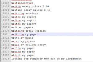 essay keywords