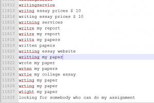 essay keywords